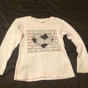 Dennys Kids soccer heart shirt